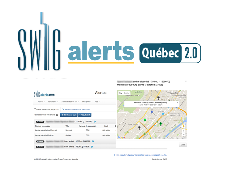 SWIG Alerts - Inventory Management for Quebec Liquor Board